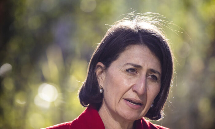 NSW Premier Gladys Berejiklian speaks at a press conference and COVID-19 update in Sydney, Australia on June 26, 2021. (Jenny Evans/Getty Images)