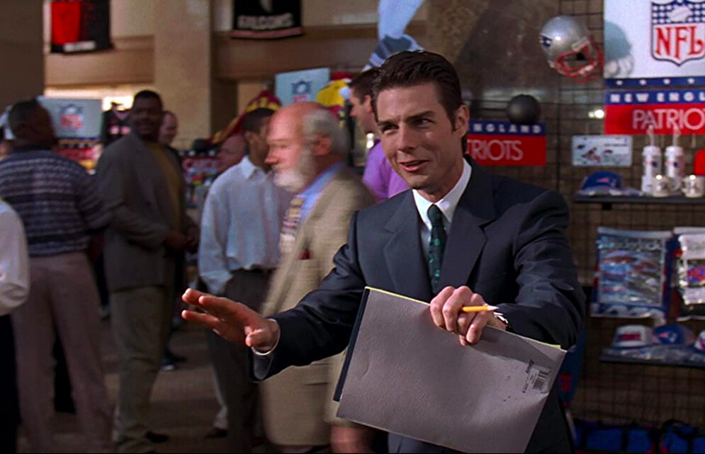 """man in suit in """"Jerry Maguire"""""""