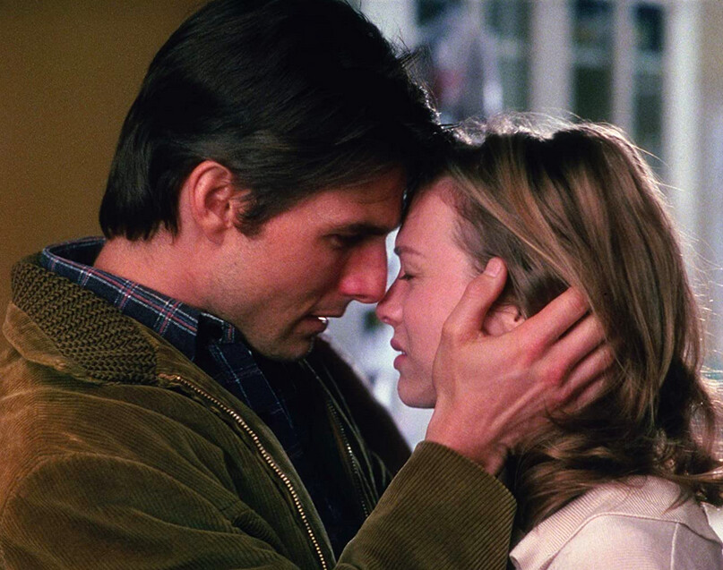 """man holds woman's face in """"Jerry Maguire"""""""