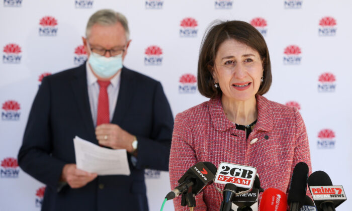 NSW Premier Gladys Berejiklian attends a press conference and COVID-19 briefing on June 25, 2021 in Sydney, Australia.(Lisa Maree Williams/Getty Images)