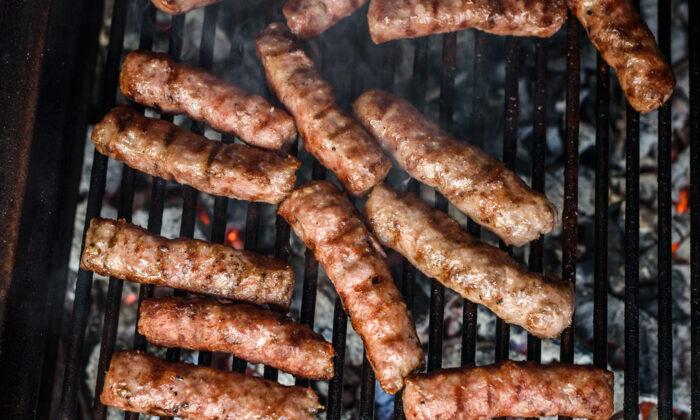 Kebabcheta, savory, cumin-spiced sausages, are a key component of the traditional Bulgarian meshana skara, or mixed grill. (JGA/Shutterstock)