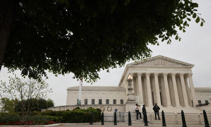 Supreme Court building in Washington on April 19, 2021. (Chip Somodevilla/Getty Images)