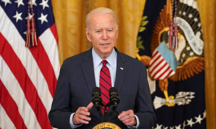 U.S. President Joe Biden delivers remarks on the bipartisan infrastructure deal in the East Room of the White House in Washington, on June 24, 2021. (Kevin Lamarque/Reuters)