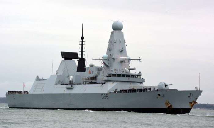 HMS Defender in an undated file photo.  (Ben Mitchell/PA)