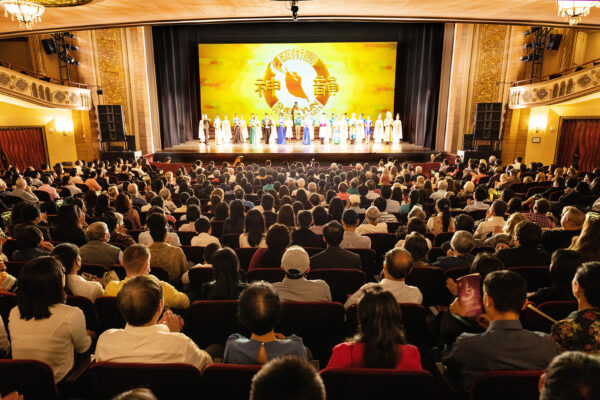 Shen Yun Performing Art's curtain call at the Palace Theatre in Stamford, Conn.