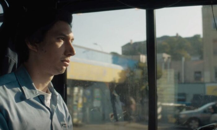 """Adam Driver plays a bus driver named Paterson in Paterson, N.J., in """"Paterson."""" (Amazon Studios)"""