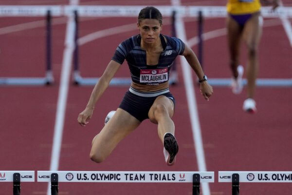Sydney McLaughlin hurdles