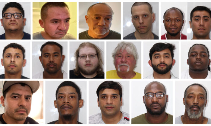 An undercover sex trafficking operation in Nashville, Tennessee, has seen arrests and charges for 17 men. (Courtesy of Metropolitan Nashville Police Department)
