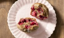 Bright, Sweet, and Tart Raspberries Add Pops of Flavor and Color to These Muffins