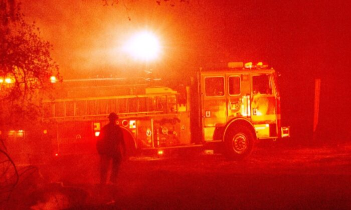 A fire truck is seen on the roadside in this file photo. (Josh Edelson/AFP via Getty Images)