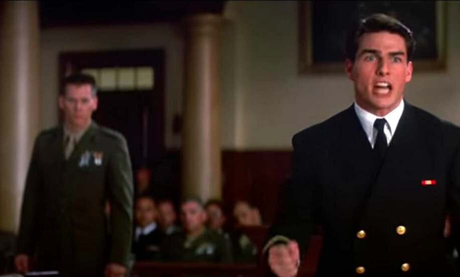 a marine lawyer and a navy lawyer in A Few Good Men