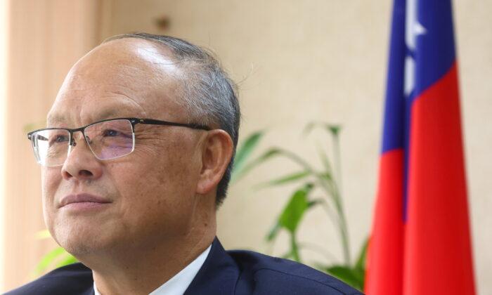Taiwan's Chief trade negotiator John Deng looks on as he speaks to the media in Taipei, Taiwan, on January 22, 2021. (Ann Wang/Reuters)