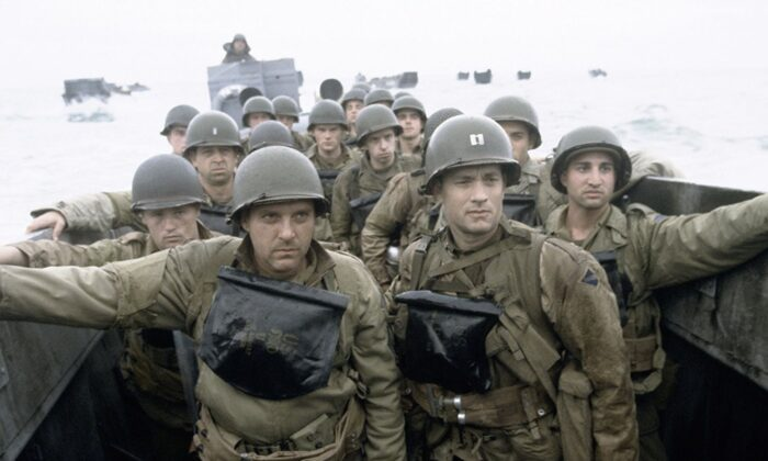"""Preparing to land on Omaha Beach. The opening 20 minutes of """"Saving Private Ryan"""" are some of the most harrowing in movie history. (DreamWorks Pictures)"""