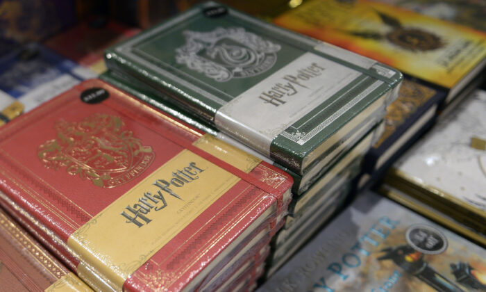 Special edition 20th anniversary edition Harry Potter books are displayed for sale in a book store in Edinburgh, Scotland on June 26, 2017.  (Neil Hanna/AFP via Getty Images)