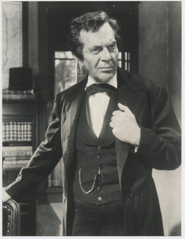 Raymond Massey as Abe Lincoln.