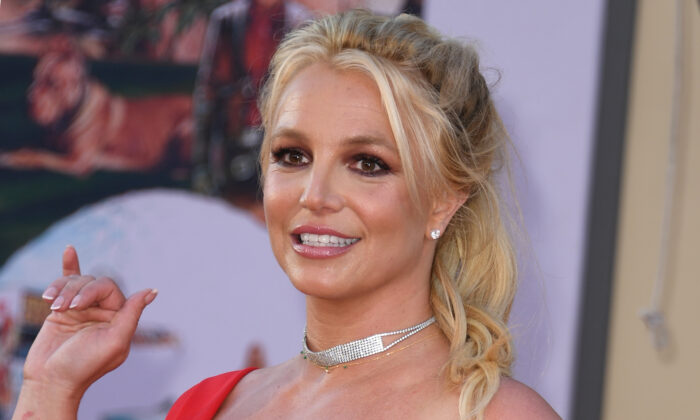 """U.S. singer Britney Spears arrives for the premiere of Sony Pictures' """"Once Upon a Time... in Hollywood"""" at the TCL Chinese Theatre in Hollywood, Calif. on July 22, 2019. (Valerie Macon/AFP via Getty Images)"""