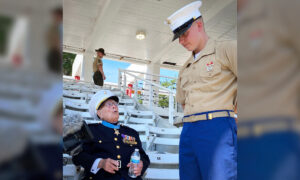 New Marine Welcomed Into Corps by Great-Grandfather—Last of the WWII Medal of Honor Recipients