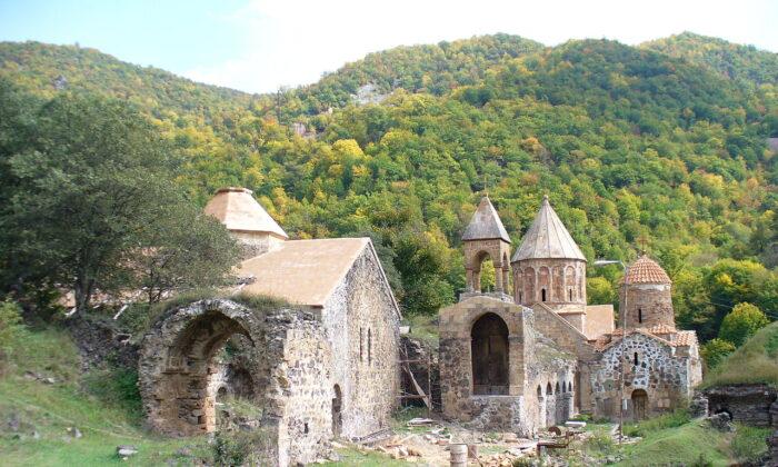 The ruins of Dadivank Monastery in the Kalbajar District of Azerbaijan.  (Public Domain)