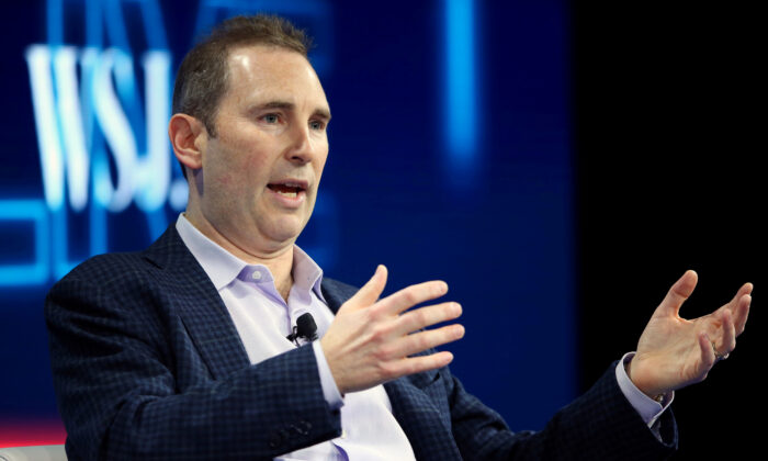 Andy Jassy, CEO of Amazon Web Services, speaks at the WSJD Live conference in Laguna Beach, Calif., on Oct. 25, 2016. (Mike Blake/Reuters)