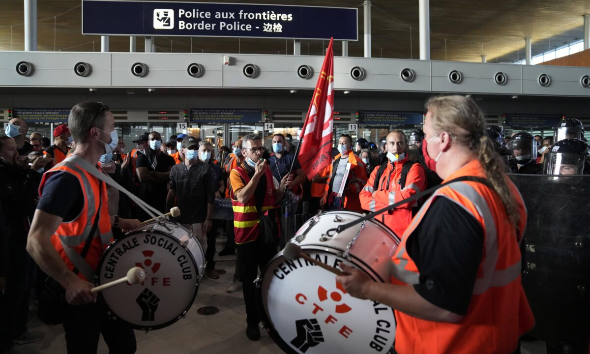 France Airport Protest