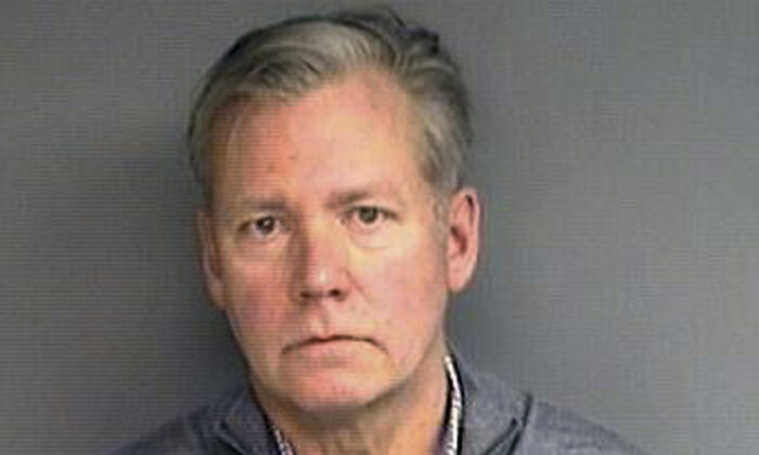 """Chris Hansen, former host of the television program """"To Catch a Predator"""" in a booking photo on Jan. 16, 2019. (Stamford Police Department via AP)"""