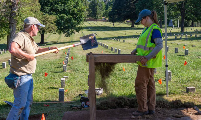 Archaeologists are looking for an available plot in Fredericksburg National Cemetery, which saw its last veteran burial in 1945. (National Park Service/Mary O'Neill/TNS)