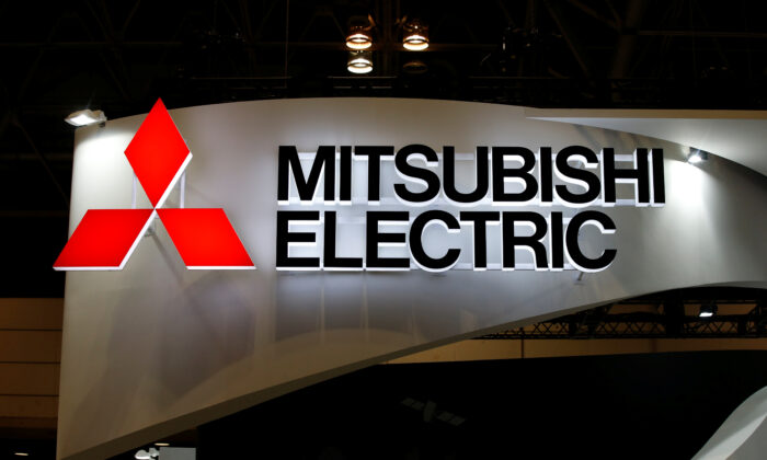 A logo of Mitsubishi Electric Corp is pictured at the CEATEC JAPAN 2017 (Combined Exhibition of Advanced Technologies) at the Makuhari Messe in Chiba, Japan, on Oct. 2, 2017. (Toru Hanai/Reuters)