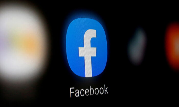 A Facebook logo is displayed on a smartphone in this illustration taken Jan. 6, 2020. (Dado Ruvic/Illustration/Reuters)