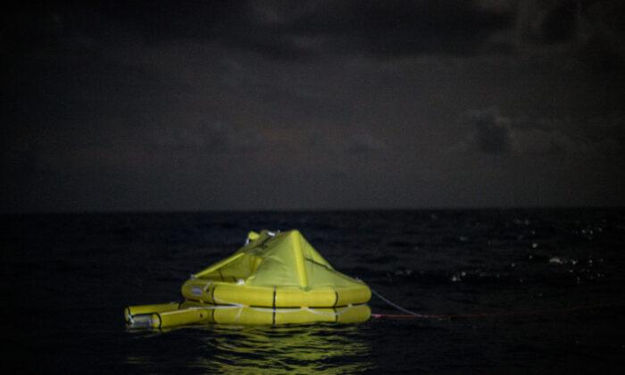 A life raft off Libya's coast in a file photo. (Federico Scoppa/AFP via Getty Images)