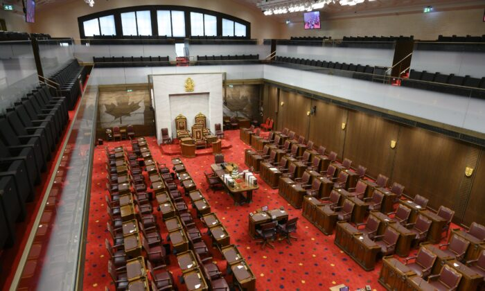 The Senate chamber in Ottawa on Feb. 18, 2019. (The Canadian Press/Sean Kilpatrick)
