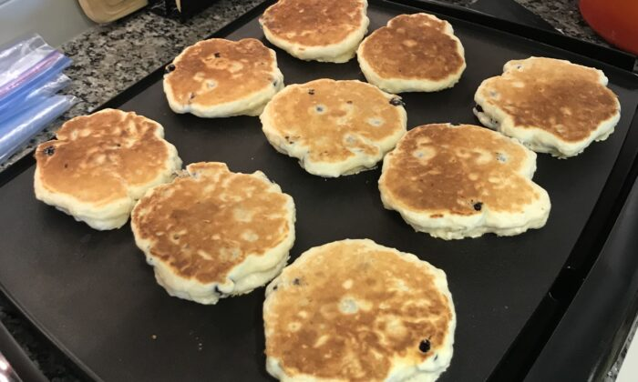 Cook until the pancakes bounce back when lightly pressed. (Courtesy of Stephen A. Sands)