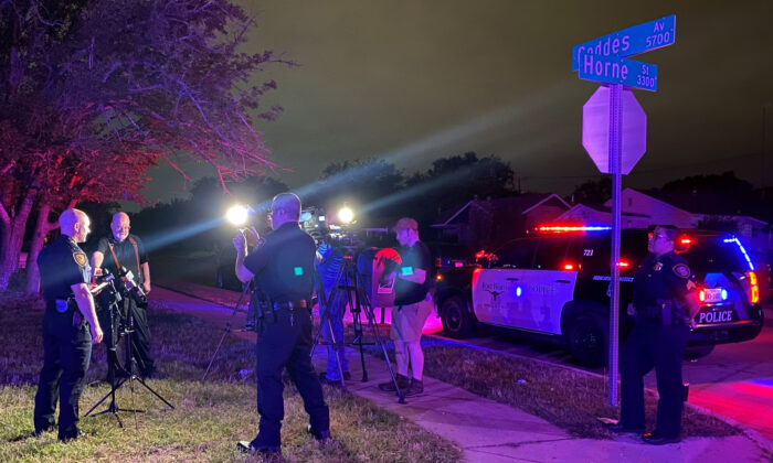 Fort Worth Police Chief Neil Noakes holds a news briefing at the site of a shooting in Fort Worth, Texas, early on July 4, 2021. (Fort Worth Police Dept. via AP)