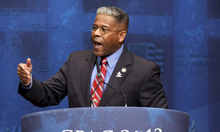 Then-Rep. Allen West, (R-Fla.) speaks at the Conservative Political Action Conference (CPAC) in Washington on Feb. 10, 2012. (J. Scott Applewhite, File/AP Photo)