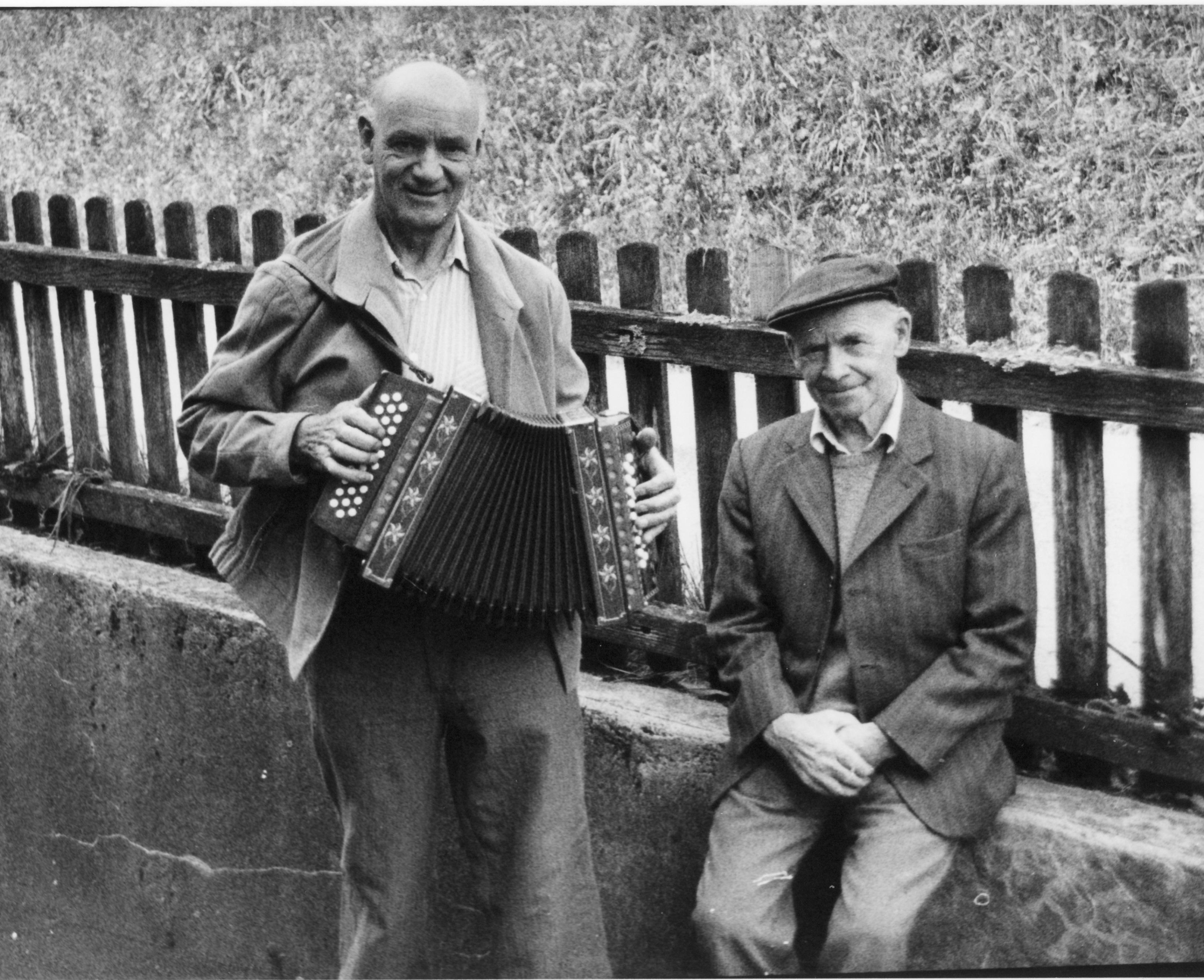 Rudolf Reist with accordion teacher Gottfried Strahm copyright Reist AG