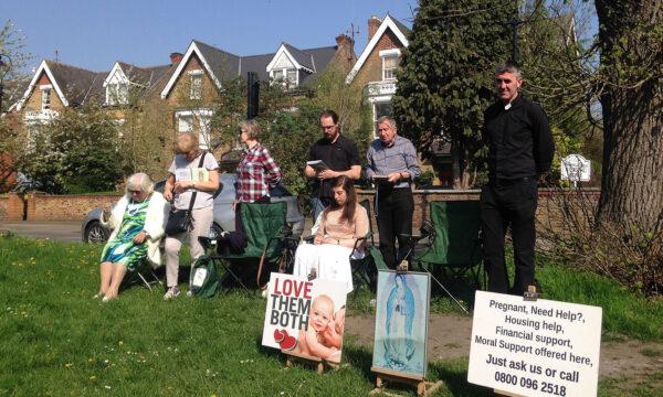 anti-abortion pro-life vigil UK