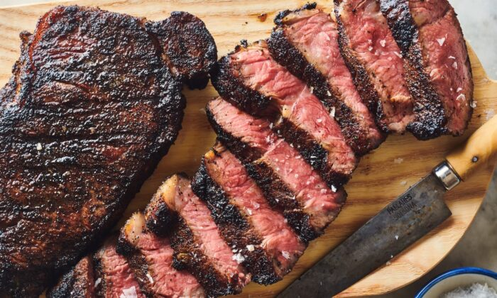 A spice rub of ground coffee beans, molasses-y brown sugar, and earthy coriander gives any steak a richly flavored, caramelized crust. (Joe Lingeman/TNS)