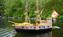 Retired Carpenter Builds 'Pirate Ship' From Salvaged Furniture and Cabinetry During Pandemic