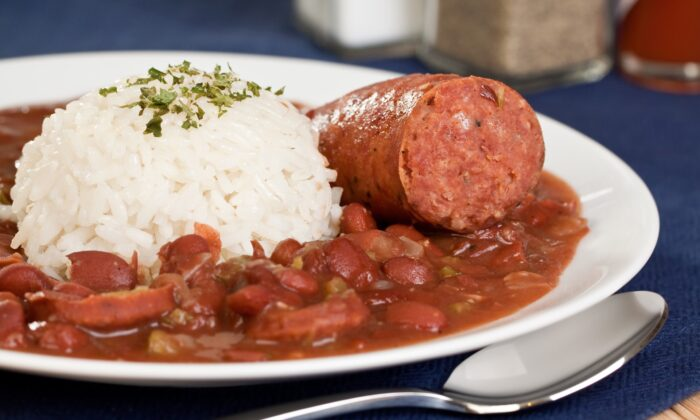 Serving red beans and rice on Mondays in New Orleans is a longstanding tradition. (HG Photography/shutterstock)