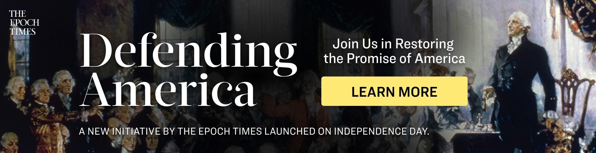 Defending America event banner