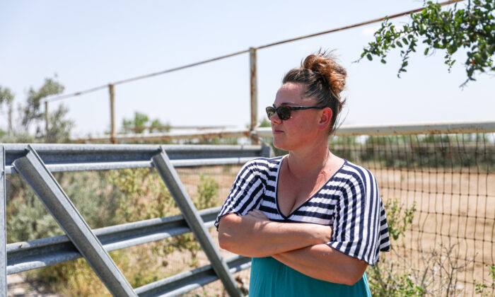 Alison Anderson on her property in Del Rio, Texas, on June 25, 2021. (Charlotte Cuthbertson/The Epoch Times)