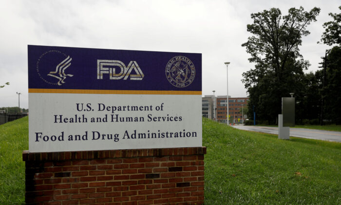 The Food and Drug Administration (FDA) headquarters in White Oak, Md., Aug. 29, 2020.  (Andrew Kelly/Reuters)