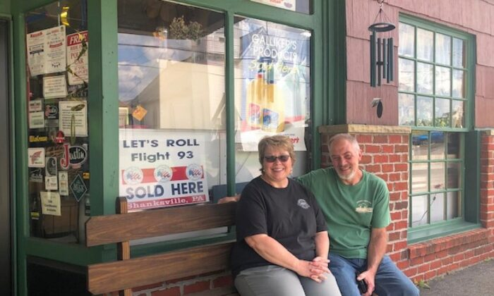 Siblings Mike and Michelle Duppstadt outside the Duppstadt General Store. (Salena Zito)