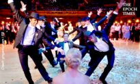 Professional Dancer And His Groomsmen Dance Perfectly