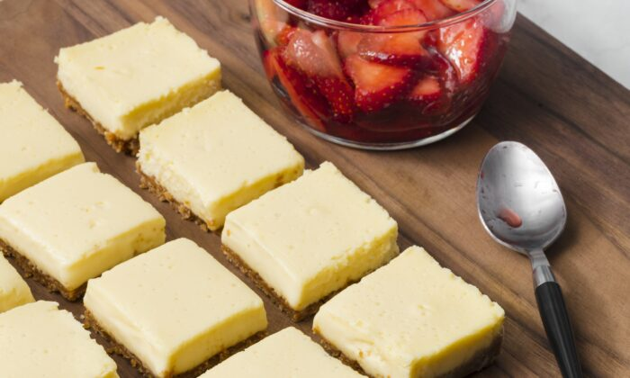 A tangy, custardy filling gives these bars a silky texture. (Kendra Smith)