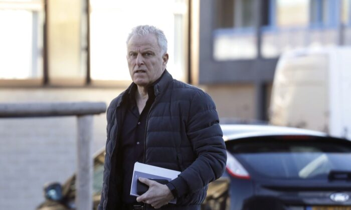 Dutch crime reporter Peter R. de Vries arrives at the heavily secured courtroom in Osdorp, Amsterdam, Netherlands, on Feb. 15, 2019. (Bas Czerwinski/AFP via Getty Images)
