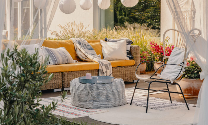Make your outdoor space feel a little more spacious than it actually is. (iStockphoto)