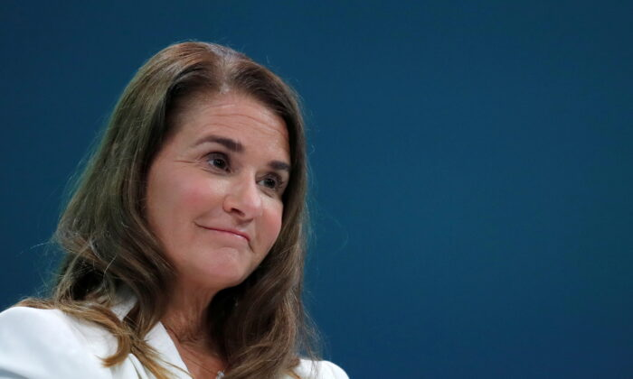 Melinda Gates, Co-Chair of the Bill and Melinda Gates Foundation, attends the opening ceremony of the Generation Equality Forum at the Louvre Carrousel in Paris, France, June 30, 2021. (REUTERS/Gonzalo Fuentes)