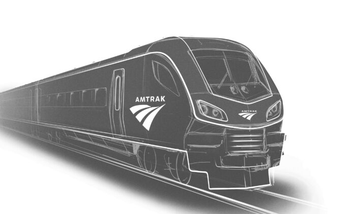 A rendering of one of the new Amtrak trains to be built in the United States by Siemens Mobility. (Siemens via AP)