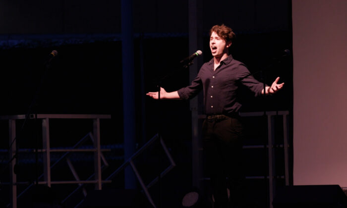 Drew Mitchellin as he appears in Porchlight Music Theatre's production of 'New Faces Sing Broadway 1979.' (Austin Packard)