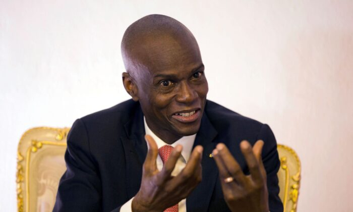 Haiti's President Jovenel Moise speaks during an interview in his office in Port-au-Prince, Haiti, on Aug. 28, 2019. (Dieu Nalio Chery/File/AP Photo)